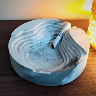 Elemental by Nanya - Muralla Roja Concrete Ashtray - Handcrafted Concrete Ashtray, Desk Accessories, Quirky Cement Ashtray...