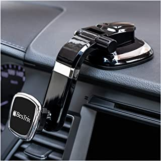 قاعدة تثبيت للسيارة للوحة القيادة المغناطيسية Bestrix حامل الهاتف متوافق مع جميع الهواتف الذكية من Bestrix