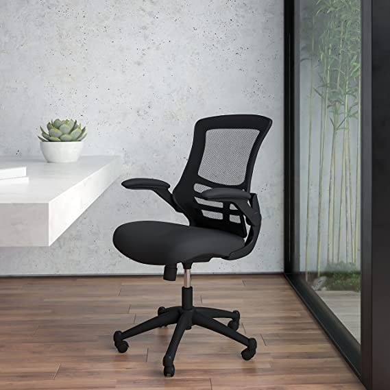 Flash Furniture Mid-Back Office Chair with Flip-Up Arms