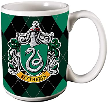 Spoontiques Slytherin Ceramic Coffee Mug, One Size, Green & Gray