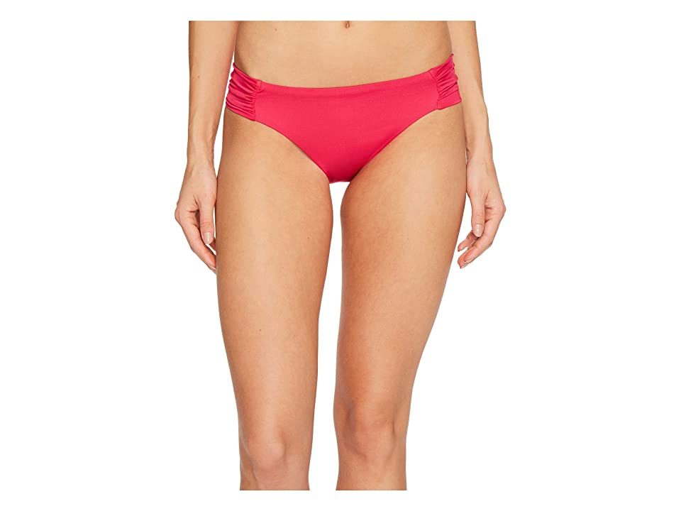 Trina Turk Studio Solids Shirred Side Hipster Bikini Bottom (Fuchsia) Women