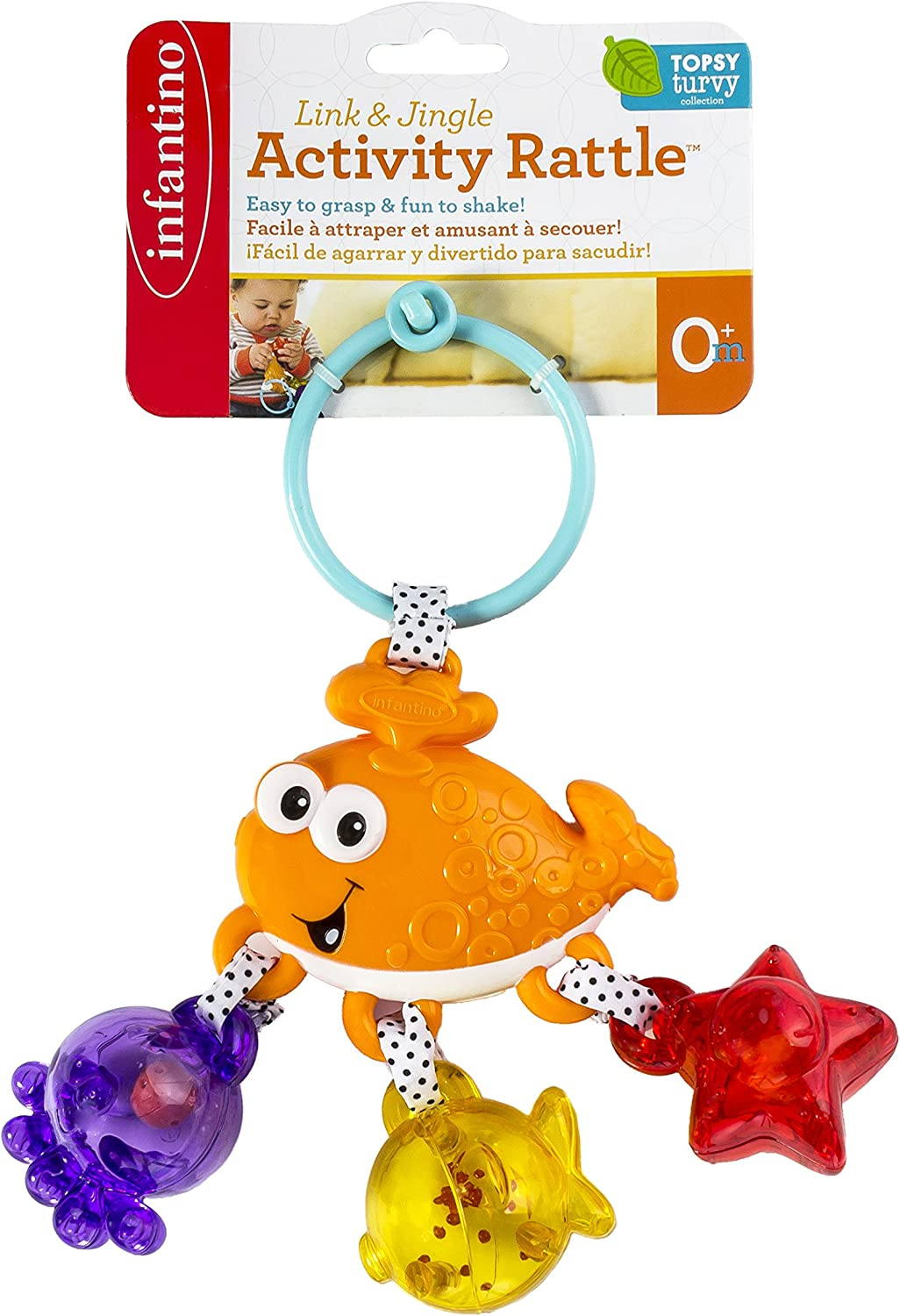 Infantino Link and Jingle Activity Rattle  Whale