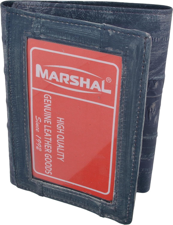 Waterproof Men's EeL Skin Leather Trifold ID Style Credit Card Holder ID Outside Wallet