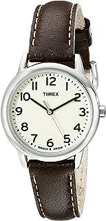 Timex Women 's tw2p595009j Main Street reloj de acero inoxidable con banda de piel, color café