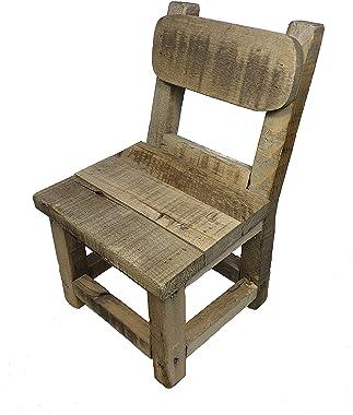 Spetebo Petite chaise décorative en bois - 31 x 21 x 18 cm - Support pour plantes