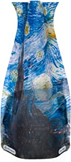 MODGY Collapsible & Expandable Plastic Vase Vincent Van Gogh Starry Night-Durable, Safe, NOT Glass, Great for Parties, Pools, Patios, Weddings & Any Celebration