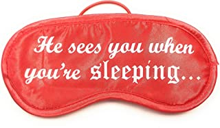 He Sees You When You're Sleeping Holiday Satiny Eye Mask