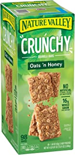 Nature Valley Crunchy Granola Bars Oats 'N Honey ( 98 Bars Total , 1.49oz bars )