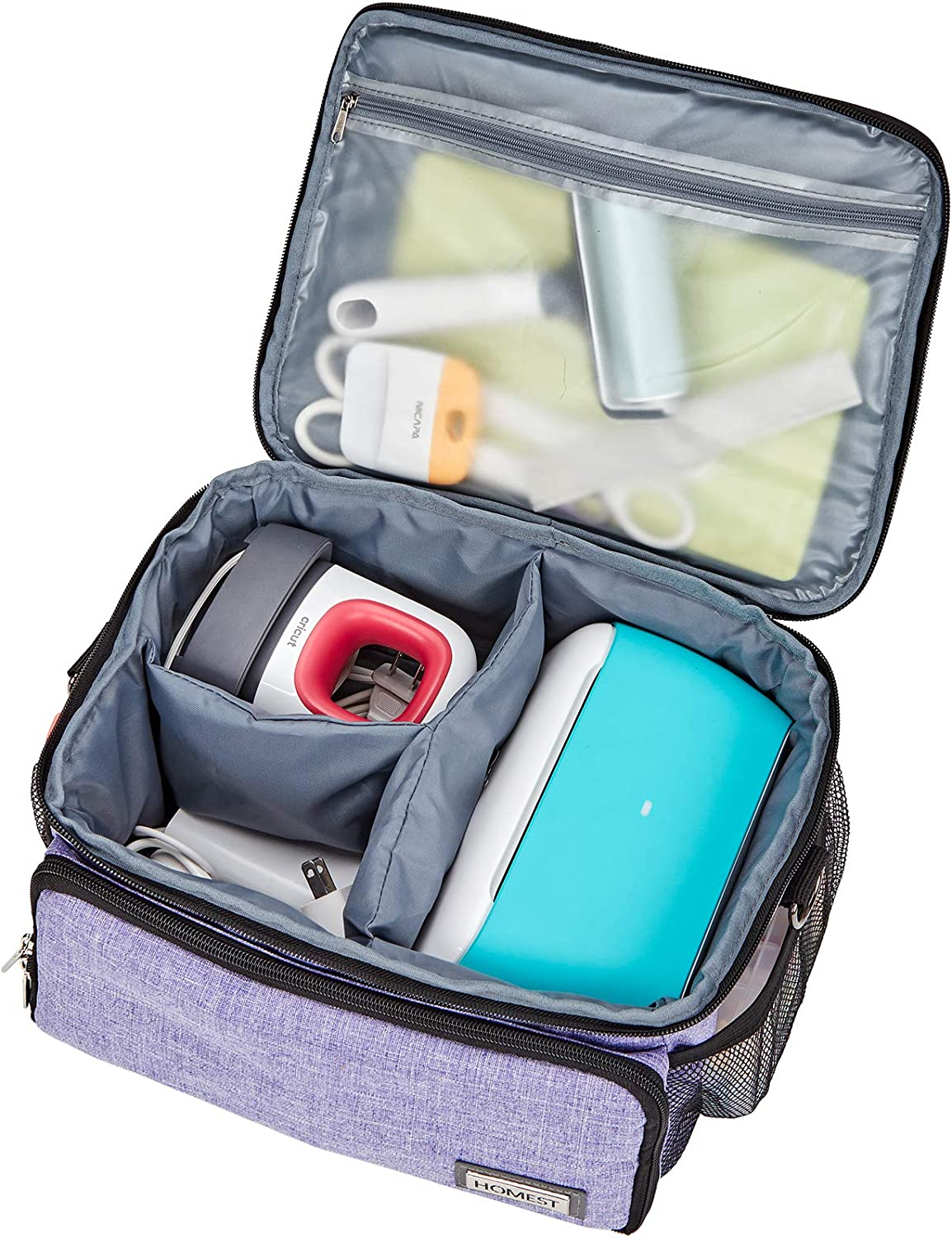 Black HOMEST Carrying Case Compatible with Circut Joy and Circut Easy Press Mini Storage Bag for Craft Pens and Tools
