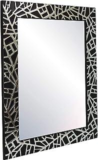 Chely Intermarket, Espejo de Pared Cuerpo Entero 50x70cm(66,50x87cm)/ Negro y Plateado/Mod-132, Ideal para peluquerías, salón, Comedor, Dormitorio y oficinas. Fabricado en España. Material Madera.