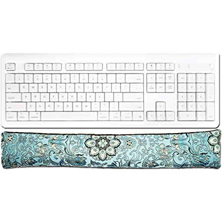 Handmade Matching Mouse and Keyboard Wrist Rest Blue Grey Velvet Mother Day Gift