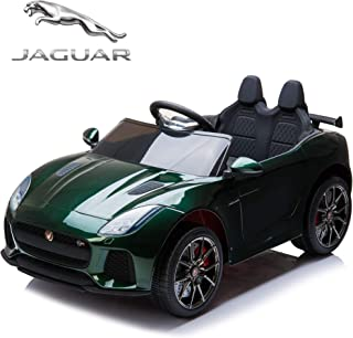 TAMCO Ride On Car, Jaguar F-Type SVR Convertible Electric Car, 2.4G Remote Control, MP3 Music Playing, Max Load 66LB (Painted deep Green)
