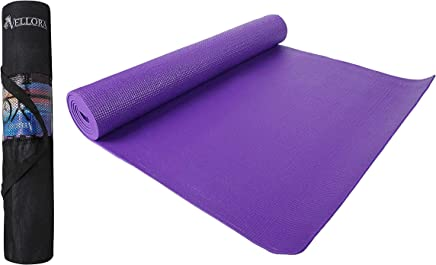Vellora Yoga Mat 6mm Thick Blue Eva - Extra Large Anti Skid Yogamat For Gym Workout And Flooring Exercise With Bag Cover