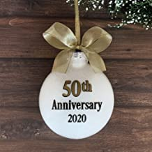 50th Wedding Anniversary Ornament, 50th Wedding Anniversary Gifts For Couples, 50th Anniversary Ornament Personalized, Golden Anniversary Gifts