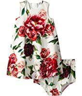 Dolce & Gabbana Kids - Knit Peonie Print Dress (Infant)
