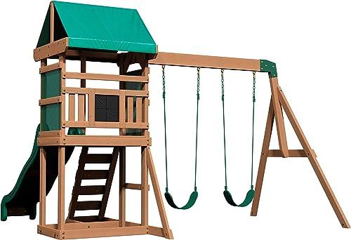 Backyard Buckley Hill Wooden Swing Set - Best Swing Sets Under 1000$