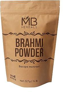 MB Herbals Pure Brahmi Powder 227g | Half Pound | Bacopa Powder | Promotes Hair Growth | Enhances Learning Memory | Improv...