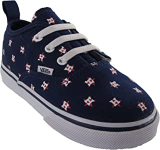 2a41ce50660 Vans x MLB Authentic Houston Astros Kids Toddler Sneakers Blue