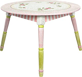 Fantasy Fields - Crackled Rose Thematic Hand Crafted Kids Wooden Table  Imagination Inspiring Hand Crafted & Hand Painted Details   Non-Toxic, Lead Free Water-based Paint