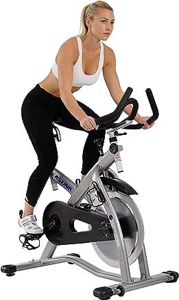 Sunny Health & Fitness Bicicleta de Ciclo Asuna Sabre - Bicicleta Comercial de Ciclismo de Interior de Correa Magnética