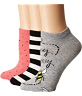 Kate Spade New York - A Buzz 3-Pack No Show Socks