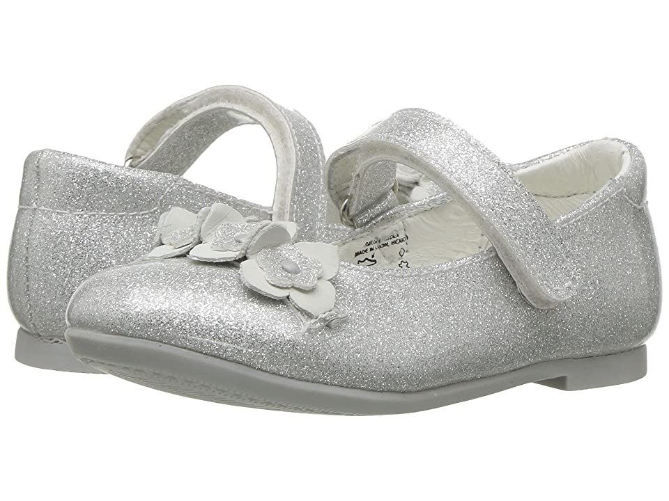 Kid Express Rose (Toddler/Little Kid) (Silver Glitter Patent) Girl