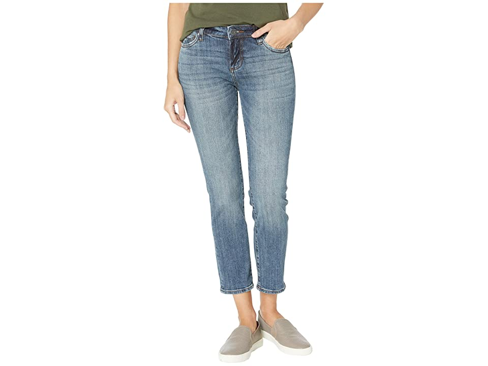 KUT from the Kloth Catherine Ankle Straight Leg Jeans in Uphold w/ Dark Stone Base Wash (Uphold w/ Dark Stone Base Wash) Women