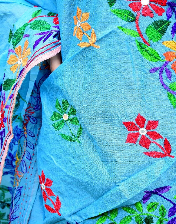 GiftPiper Chanderi Hand Embroidered Dupatta