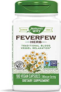 Sponsored Ad - Nature's Way Feverfew 380 mg TRU-ID Certified Non-GMO Project Vegetarian; 100 Count