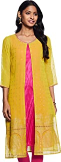 W for Woman Women's Synthetic Straight Salwar Suit Set