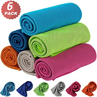 KEAFOLS Cooling Towel 6 Packs 40x12'' Chill Ice Sports...