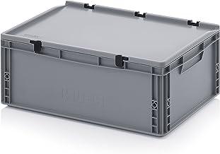 Contenedor de euros-Eurobox 60 x 40 x 22 cm con las bisagras de la tapa incluye metro plegable