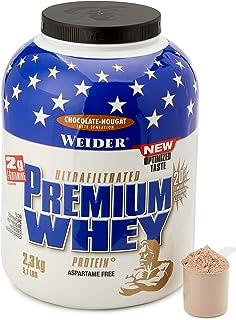 Weider Premium Whey proteïnepoeder, laag carb proteïneshakes met Whey proteïne-isolaat, chocolade-nougat, (1 x 2,3 kg)