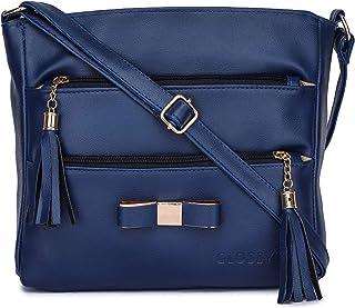 GLOSSY Girls' & Women's' Sling Bag (uf777083_Blue)