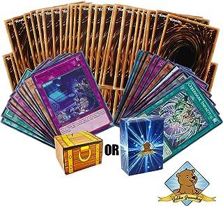 Yugioh 100 Card Lot - 10 Rares - 10 Holos - Golden Groundhog Treasure Chest Box!