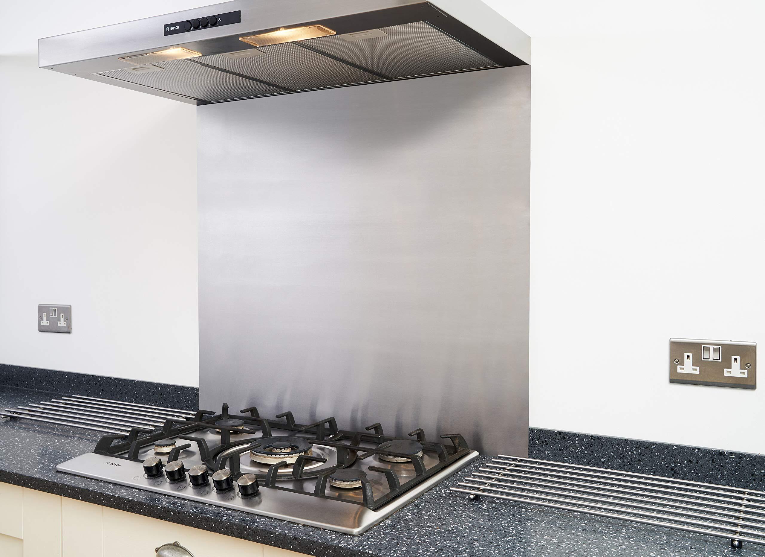 Tapa de acero inoxidable satinado para cocina o campana de cocina, 600 x 450 mm, fácil de instalar, con registro de IVA: Amazon.es: Hogar