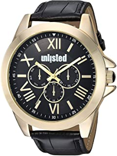 UNLISTED Kenneth Cole Watch For Men Analog Genuine Leather