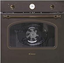 Candy FCC604AV/E - Horno vintage multifunción, 65l, reloj analógico, puerta doble cristal, ventilador tangencial, A+, cobre y dorado