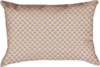 """ArtVerse Katelyn Elizabeth Yellow Pastel Ombre Geometric Pattern 14"""" x 20"""" وسادة بوليستر مغزولة، متعددة الألوان"""
