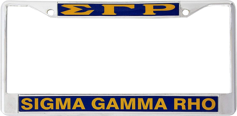 Desert Cactus Sigma Gamma Rho Metal License Plate Frame for Fron