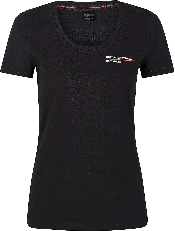 Porsche Motorsport Women's New Cheap super special price sales T-Shirt Black