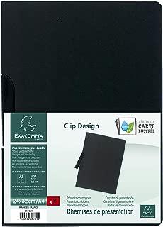 Job Application Folder Manila Cardboard 400g DIN A42Pieces with Clip, 30Sheet Capacity, Black