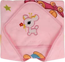 SHOP FRENZY Soft Receiving Hooded Swaddle Blanket Wrapper Pink for Baby Boy Girl Infant Toddler Cartoon Soft