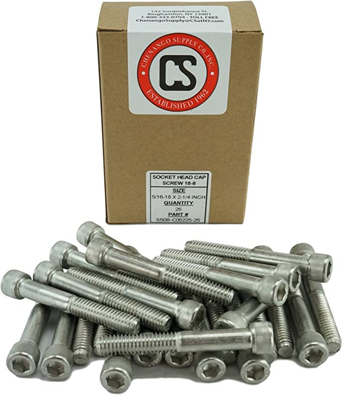 PACK OF 5 NEW 5//16-18 X 4 1//2 SOCKET HEAD CAP SCREW ZINC PLATED FREE SHIPPING NH