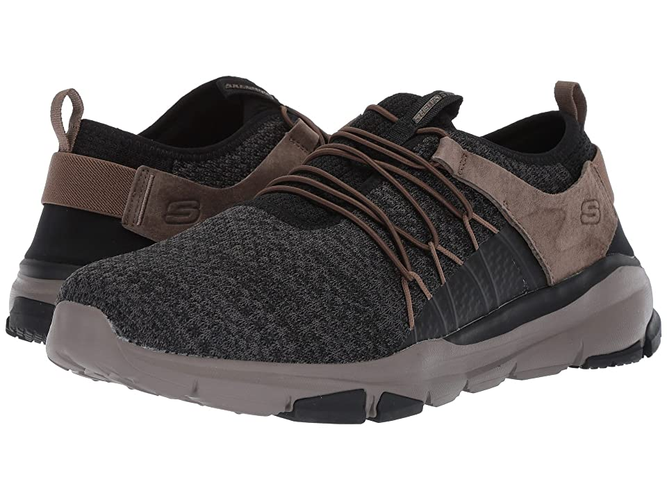 SKECHERS Relaxed Fit(r): Soven Lorado (Black/Taupe) Men