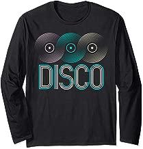 Disco 70s 80s Music Records Funky Vinyl Retro Style Long Sleeve T-Shirt