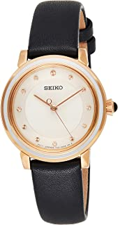 Seiko Wrist Watch Womens Quartz Dress Watch, Analog and Leather - SRZ484P1