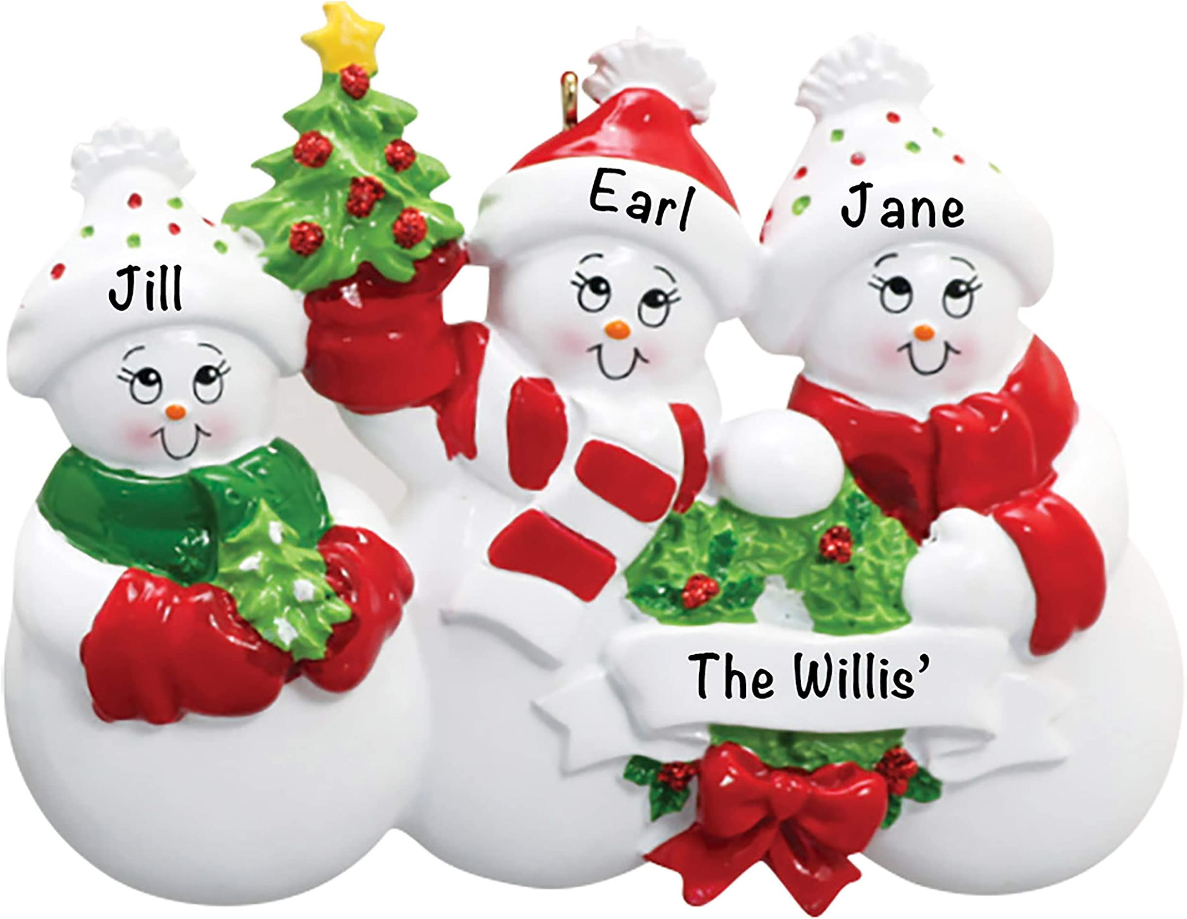 Personalized Reindeer Family Christmas Ornament Family of 6 Ornament Gift for Mom or Grandma Family Ornament