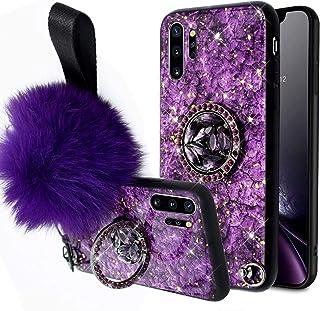 Urhause Funda Compatible con Galaxy Note 10 Pro/Note 10 Plus,Mujeres Marmol Silicona Bumper TPU Duro Híbrido Carcasa Purpu...