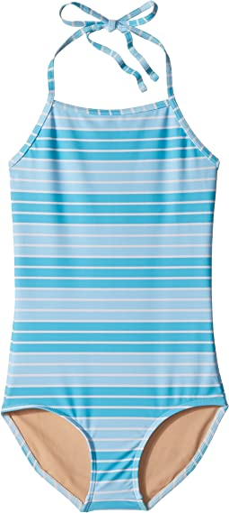 Toobydoo - Aqua Stripe One-Piece Swimsuit (Infant/Toddler/Little Kids/Big Kids)